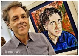 The Artist and his Self Portrait (Photo Gaetano Lo Presti)