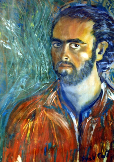 Self Portrait - 1989 - Oil on paper - 50X70