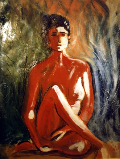Lost Woman - 1989 - Oil on paper - 50X70