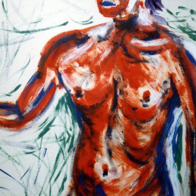 Self Portrait - 1989 - Oil on paper - 70X100