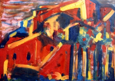 Bard Fortress - 1991 - Oil on canvas - 70X50