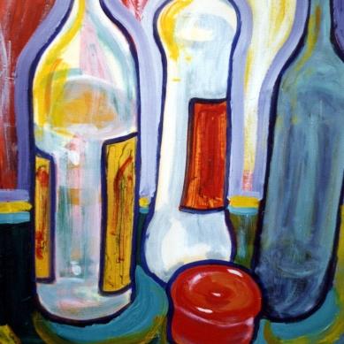 Big Still Life - 1990 - Oil on paper - 70X100