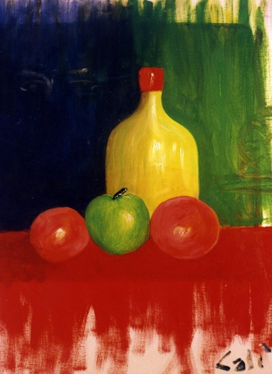 Still Life with Artist Eyes - 1990 - Oil on canvas - 50X70