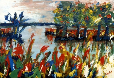 Landscape - 1989 - Oil on paper - 50X30