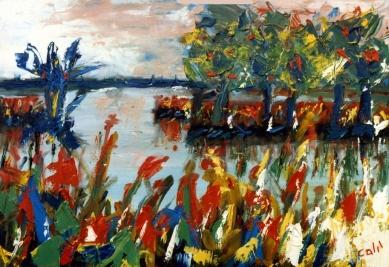 Landscape - 1989 - Oil on paper - 50X30