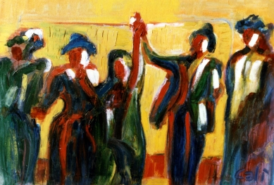 Actors - 1989 - Oil on canvas - 70X50