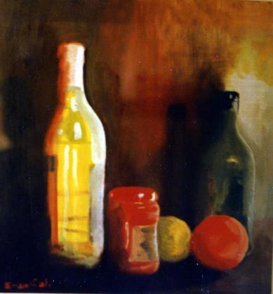 Still Life - 1988 - Oil on paper - 50X50