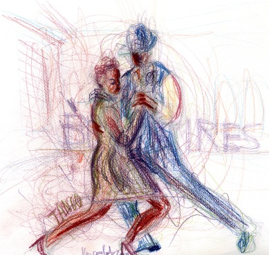 Study for Tango 3 - 2011 - Pastels - 30X40