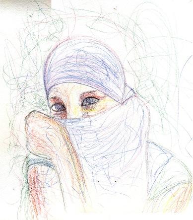 Portrait on the Desert - 2010 - Pastels - 30X40