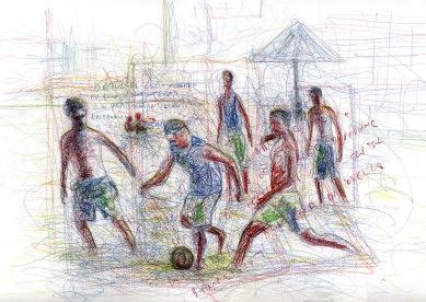Soccer - 2010 - Pastels - 40X30