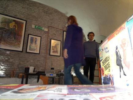 Vincenzo Calì with Antonietta Campilongo preparing the Exhib