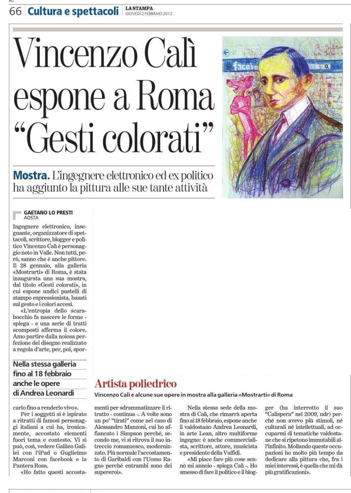 "Article on ""La Stampa"""