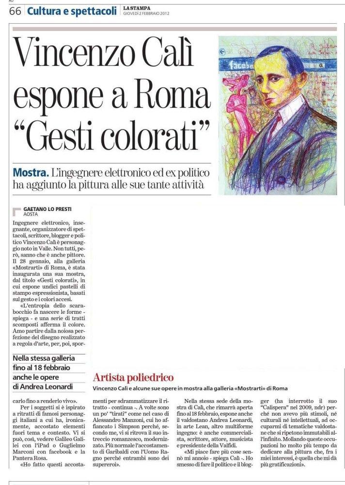 "Article on ""La Stampa"""