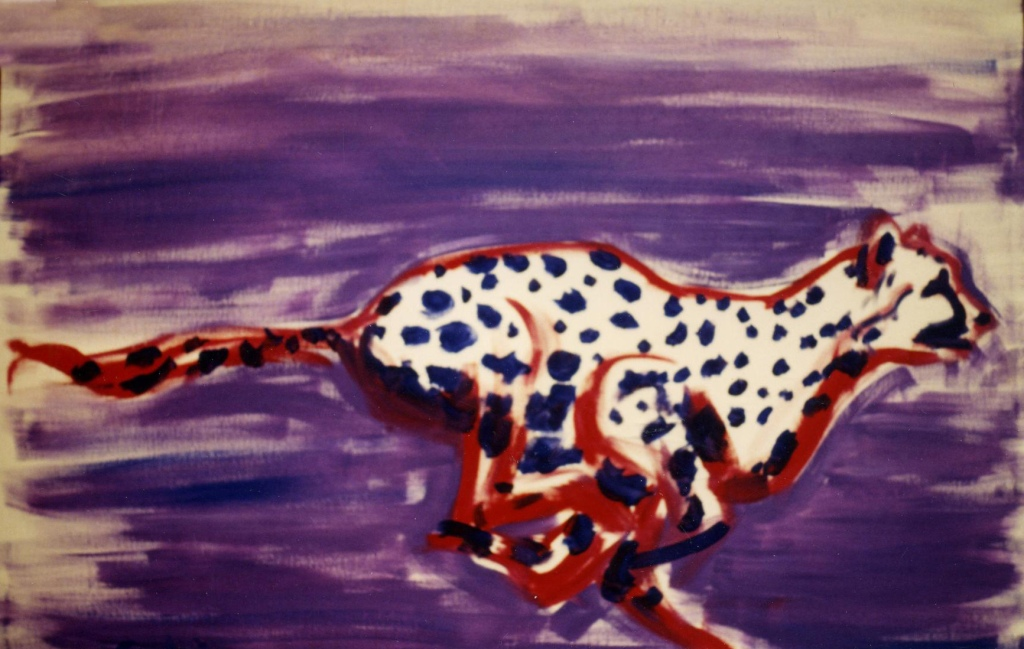 Cheetah Pois - 1990 - Oil on canvas - 100X70