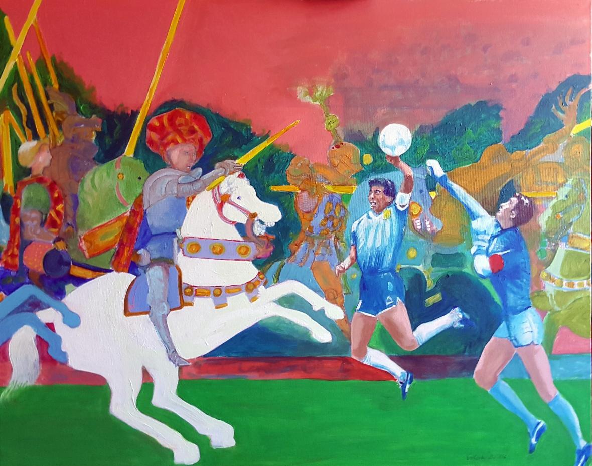 Maradona alla battaglia di San Romano