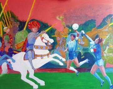 Gesture n.3 - 2016 - Acrylic on canvas - 100x80