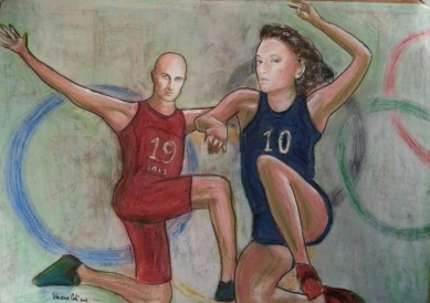 Olympic Dreams - 2013 - Pastels and acrylic - 70X50