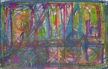 Eureka! I invented abstract art - 2015 - Pastels - 50X30