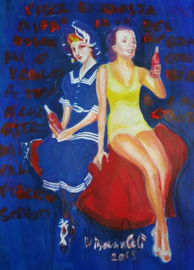 Deep blue seen in Tropea - 2015 - Pastels and Acrylics - 47X55