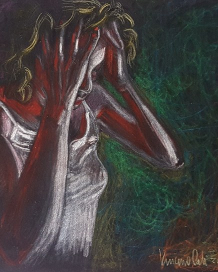 Fires - 2018 - Pastels on paper - 30x40