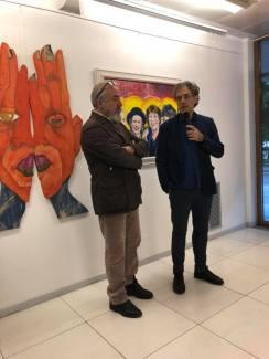Bobo Pernettaz e Vincenzo Calì durante il vernissage