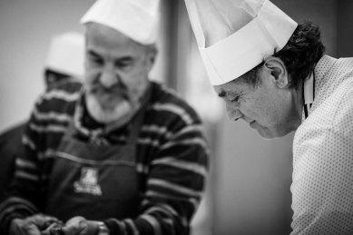Bobo Pernettaz e Vincenzo Calì pasticceri, guidati da Alberto Norbiato