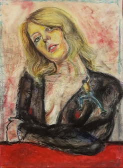 Ritratto in salita – 2018 – Pastels on Paper – 30x40